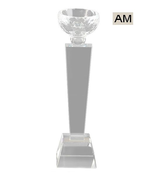 big crystal trophy