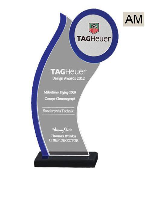 blue color trophy