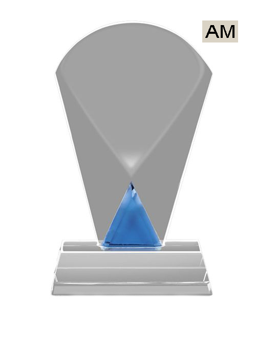 blue crystal trophies