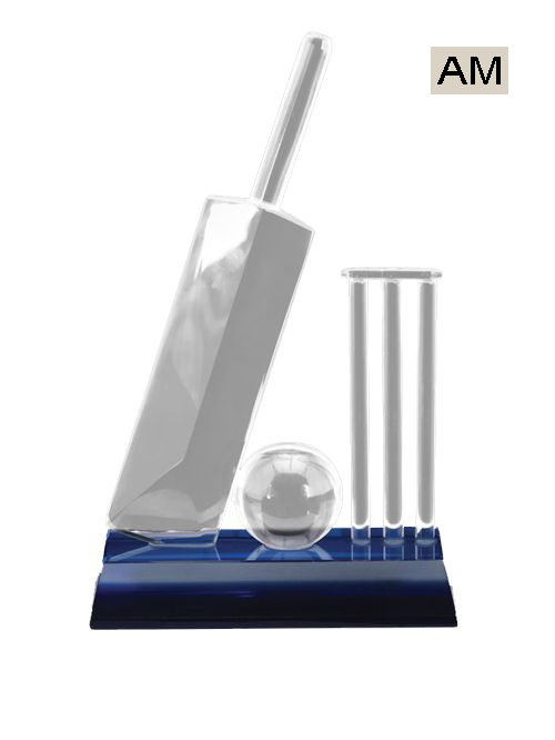 cricket crystal trophies