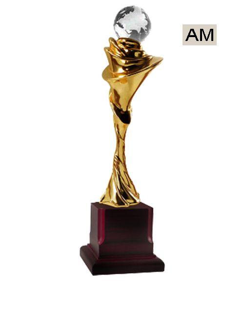 diamond metal theme trophy