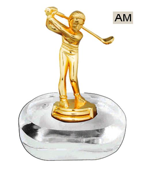 golf metal theme trophy