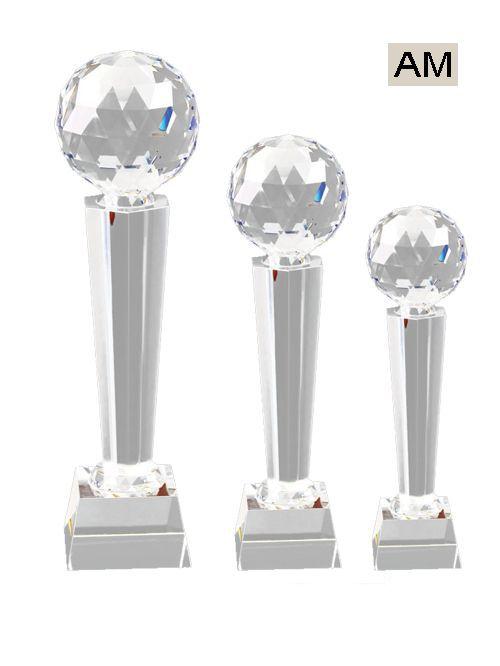 medium crystal trophy
