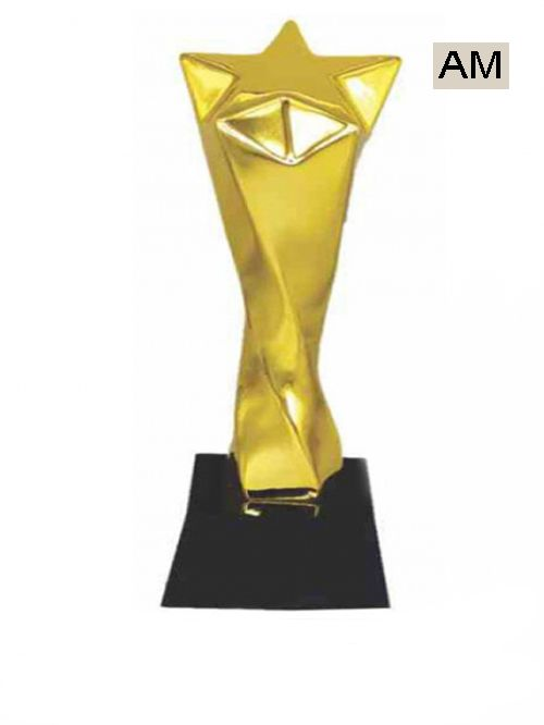 premium metal big star trophies