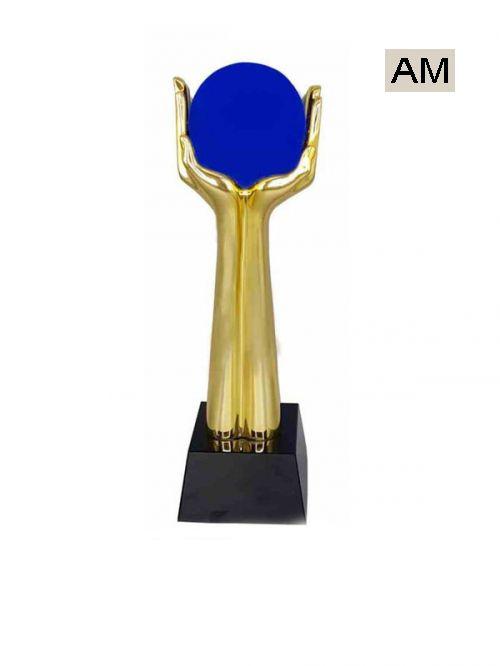 premium metal hand with glob trophies