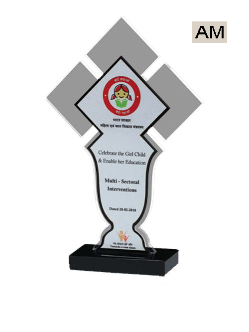 red plate acrylic trophies