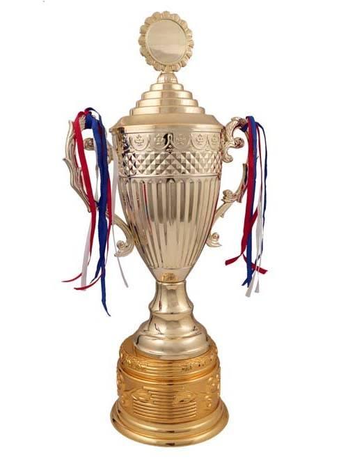 round metal trophy