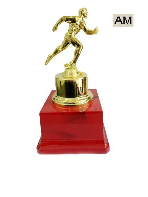 running plastic trophies
