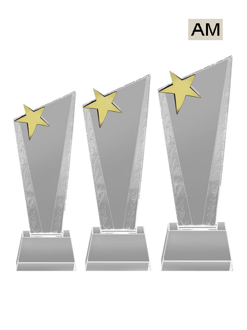 star type crystal trophies
