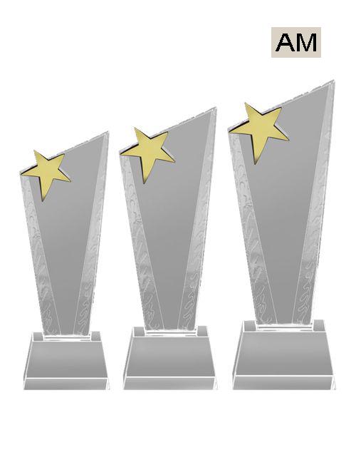 star type crystal trophies
