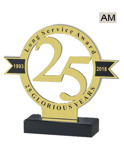 twenty five year acrylic trophy