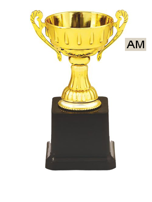 cup with black stand trophy