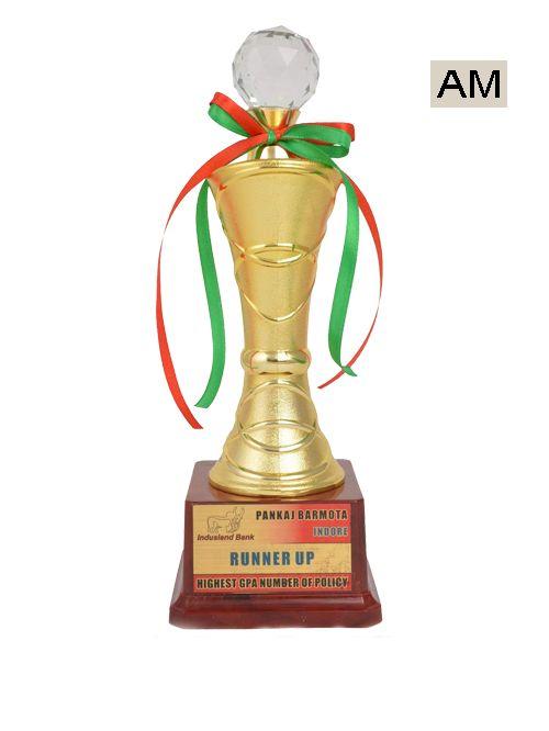 gold fancy trophy