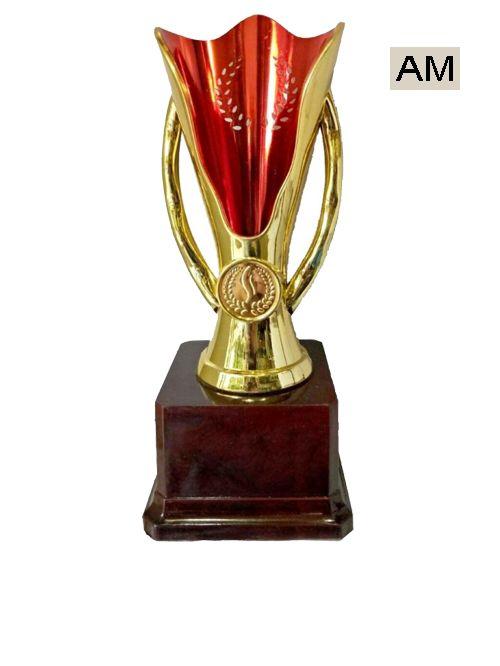 golden red fancy trophy