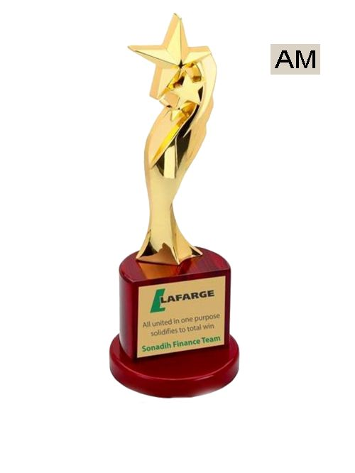 golden trophy for corporate