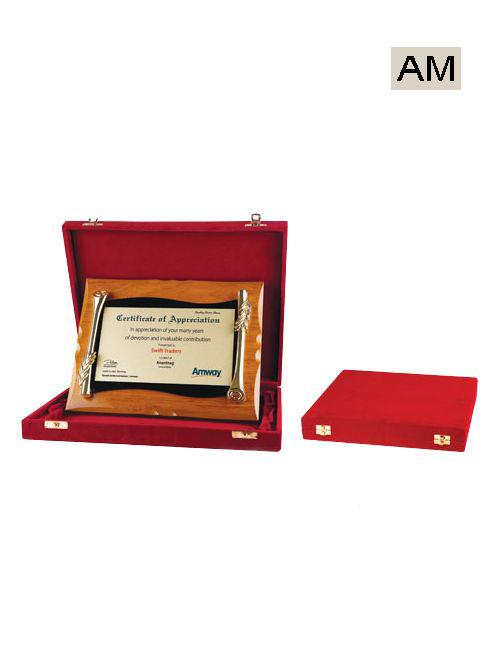 red box wooden mementos