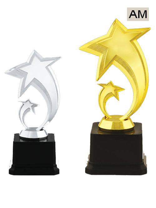 silver star gold star trophy