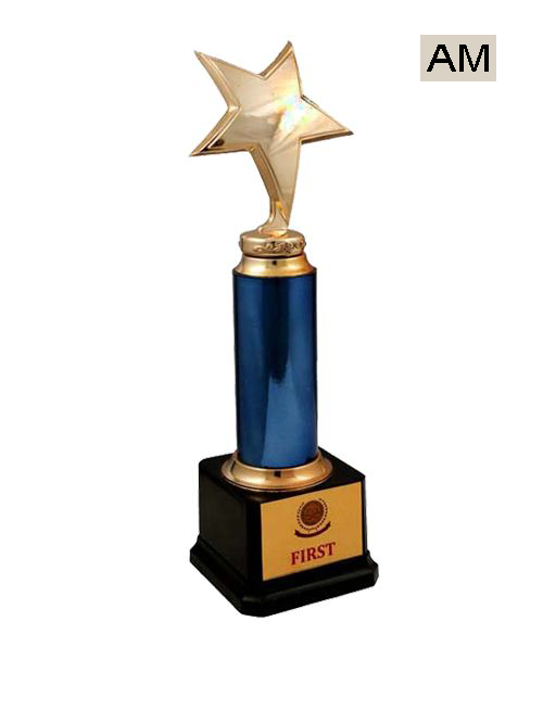 star with blue color trophy